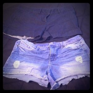 Size 14 NY&Co Jean shorts
